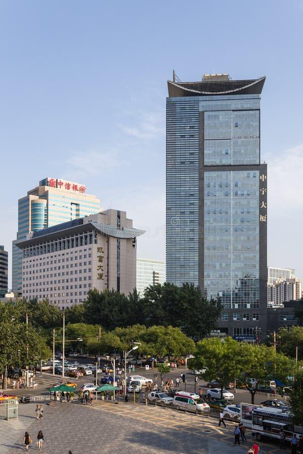 Beijing, China Arquitetura da cidade - 4 imagem de stock