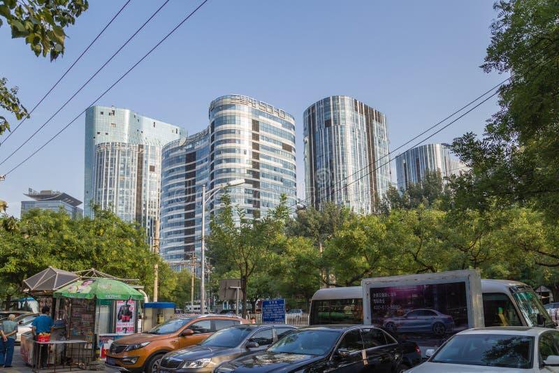Beijing, China Arquitetura da cidade - 6 imagens de stock royalty free