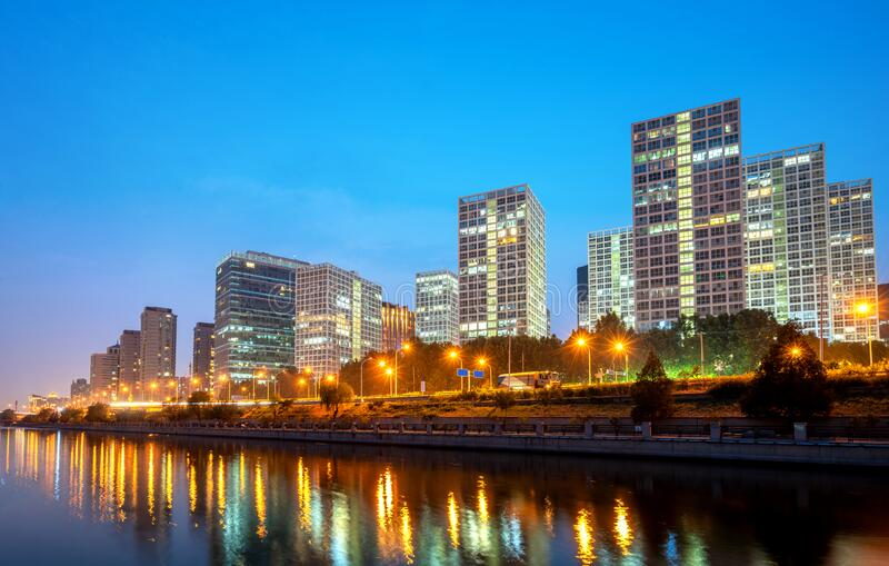 Beijing, China CBD city skyline royalty free stock photography