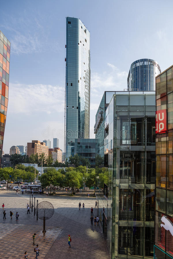 Beijing, China. Cityscape - 10. Beijing, China. Modern buildings in the city center royalty free stock photography