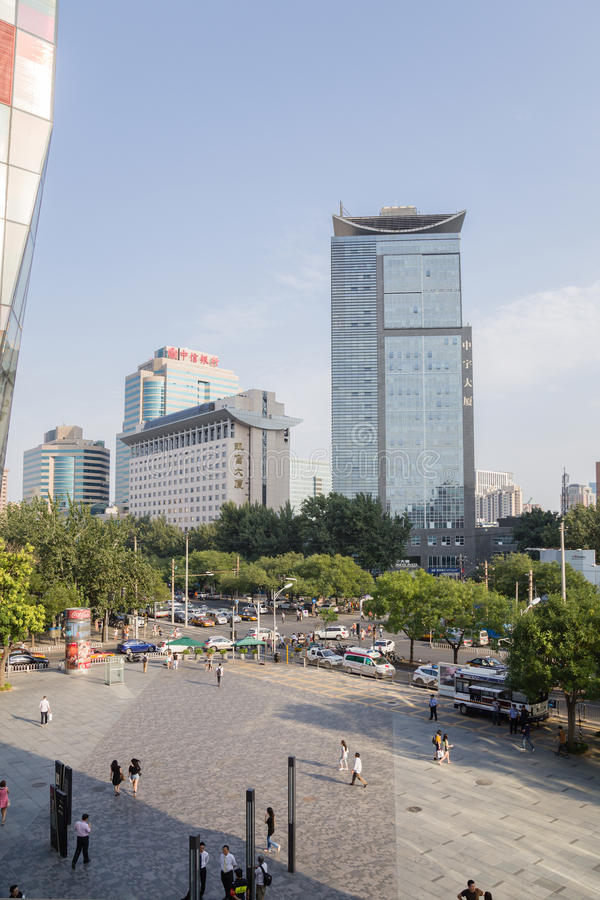 Beijing, China. Cityscape - 14. Beijing, China. Modern buildings in the city center royalty free stock images