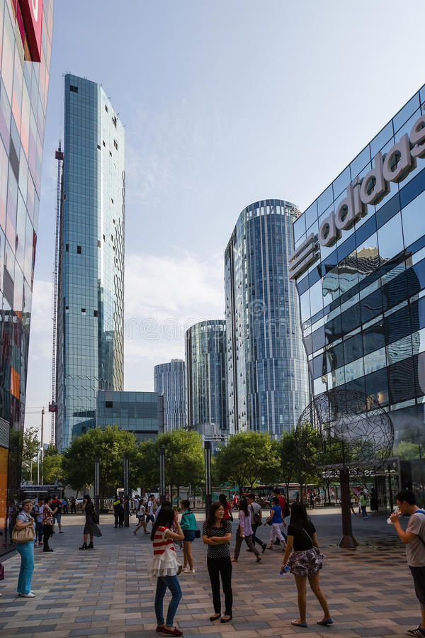 Beijing, China. Cityscape - 17. Beijing, China. Modern buildings in the city center royalty free stock photos