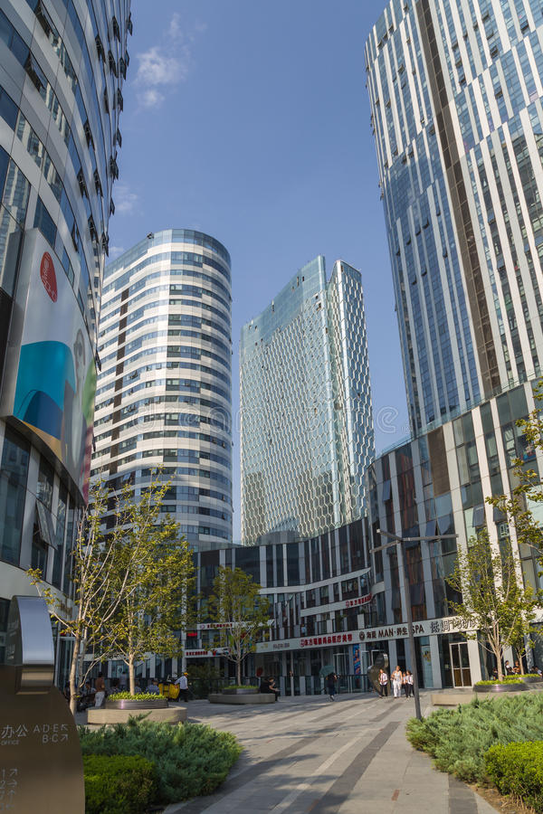 Beijing, China. Cityscape - 5. Beijing, China. Modern buildings in the city center stock image