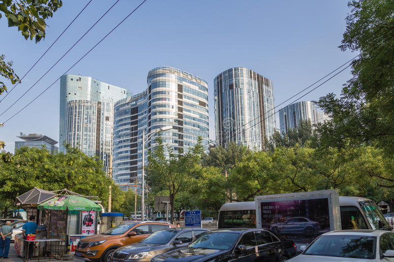 Beijing, China. Cityscape - 6. Beijing, China. Modern buildings in the city center royalty free stock images