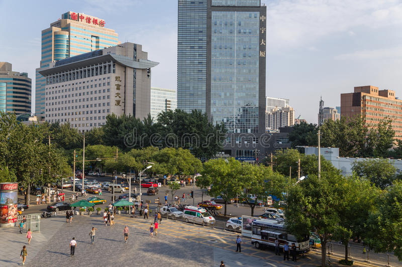 Beijing, China. Cityscape - 19. Beijing, China. Modern buildings in the city center royalty free stock images