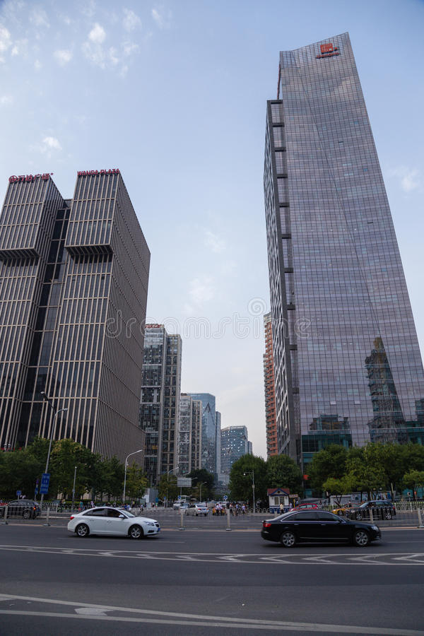 Beijing, China. Cityscape - 20. Beijing, China. Modern buildings in the city center stock image