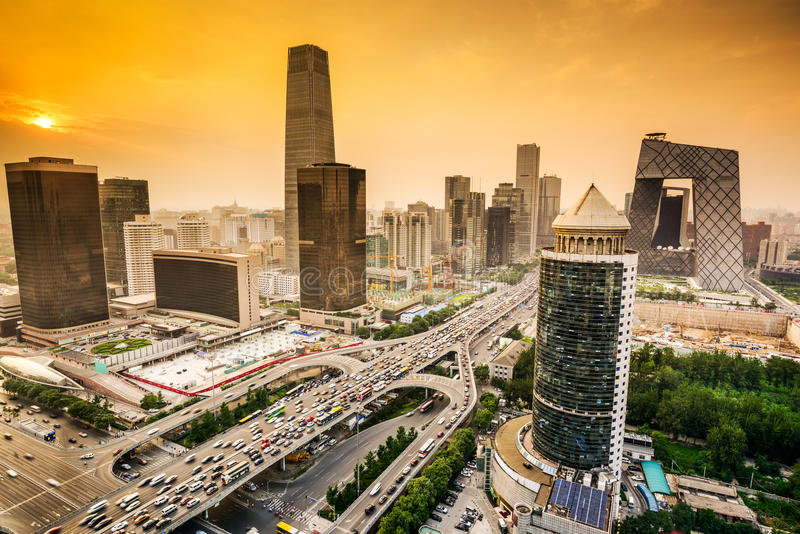 Download Beijing, China Financial District Skyline Stock Photo - Image: 48999066