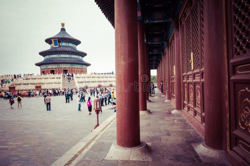 BEIJING, CHINA - 17 MAY 2018: Temple of Heaven landmark of Beijing city, China. stock photo
