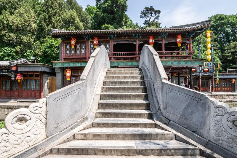 Beijing, China - May 25, 2018: View of Summer Palace, an Imperial Garden, where integrates numerous traditional halls and. Pavilions into the Imperial Garden royalty free stock images