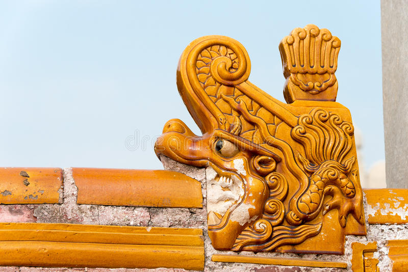 BEIJING, CHINA - Oct 18 2015: Roof at Temple of Earth (Ditan). A famous historic site in Beijing, China stock images