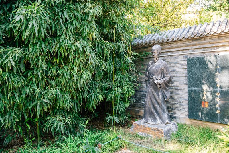 Temple of Earth, Ditan Park, Chinese traditional garden in Beijing, China. Beijing, China - September 21, 2018 : Temple of Earth, Ditan Park, Chinese traditional stock image