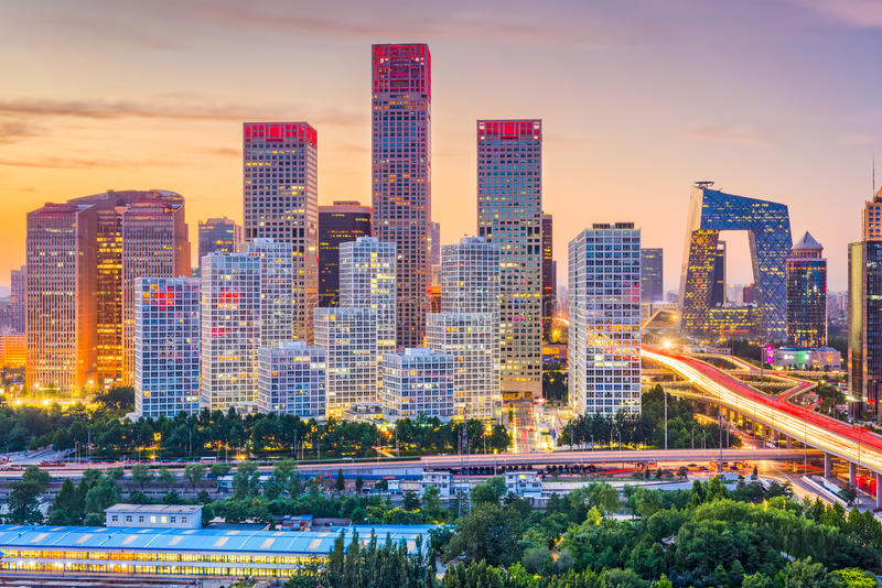 Beijing, China Skyline stock photos