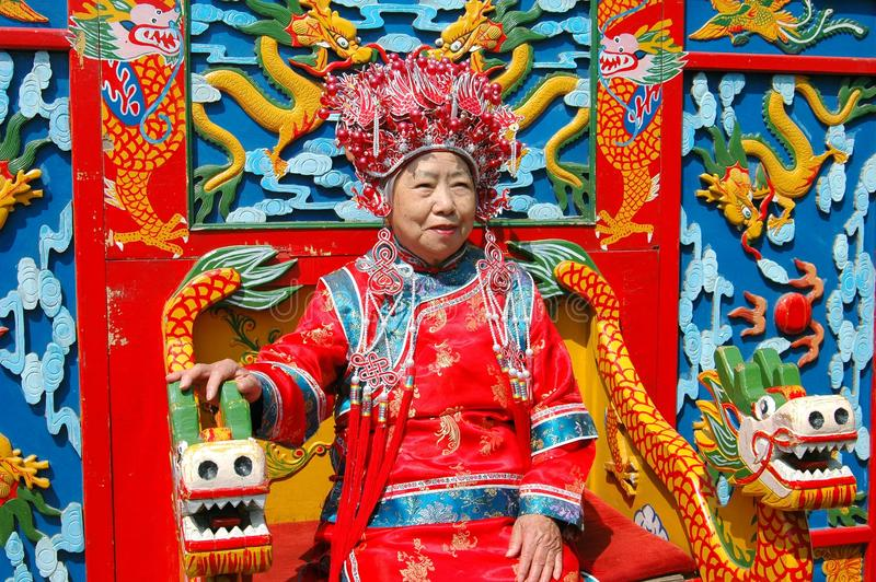 Beijing, China: Woman in Ceremonial Robe royalty free stock photo