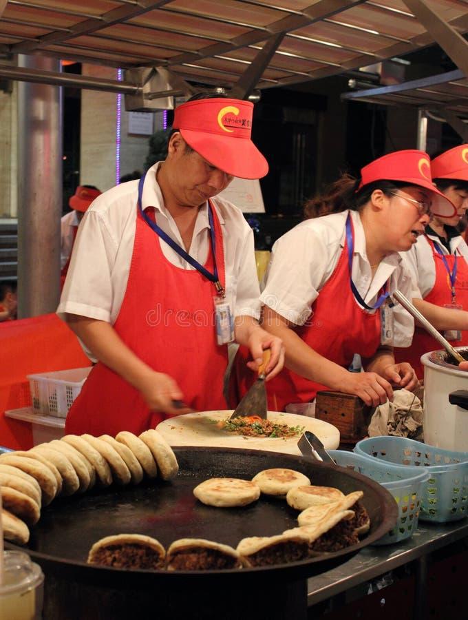 beijing chleb donghuamen targową jedzenie noc zdjęcia royalty free