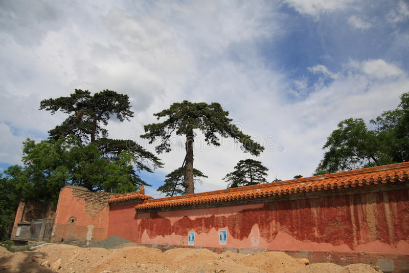beijing circumvallation som ming den gammala tomben royaltyfri bild