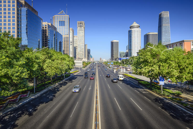 Beijing Cityscape. Beijing, China cityscape in the CBD stock photos