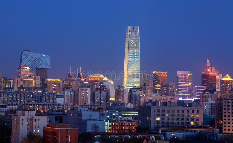 Download Beijing at dusk editorial photography. Image of cctv - 18937772