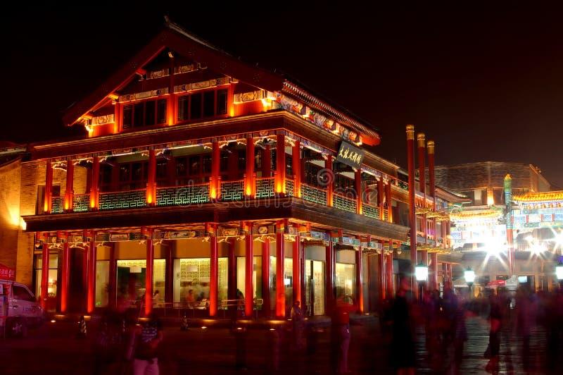 beijing första gata royaltyfri foto