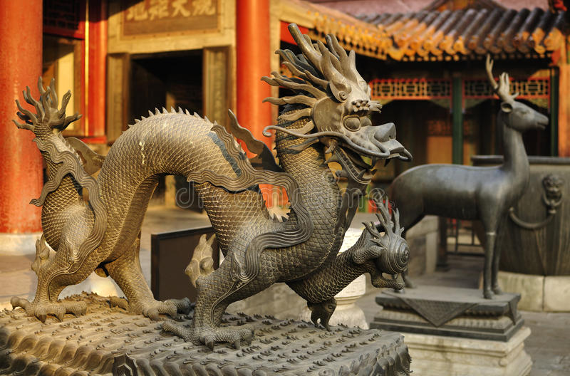 Beijing Forbidden City Palace Dragon stock images