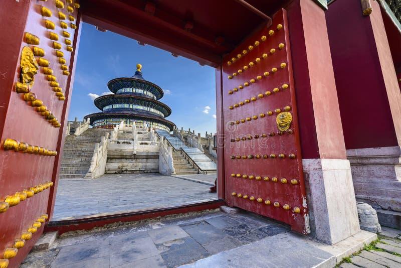 beijing himmeltempel royaltyfri bild