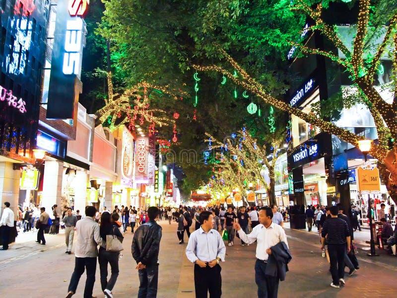 Beijing Lu is one of Guangzhou's main shopping royalty free stock photography