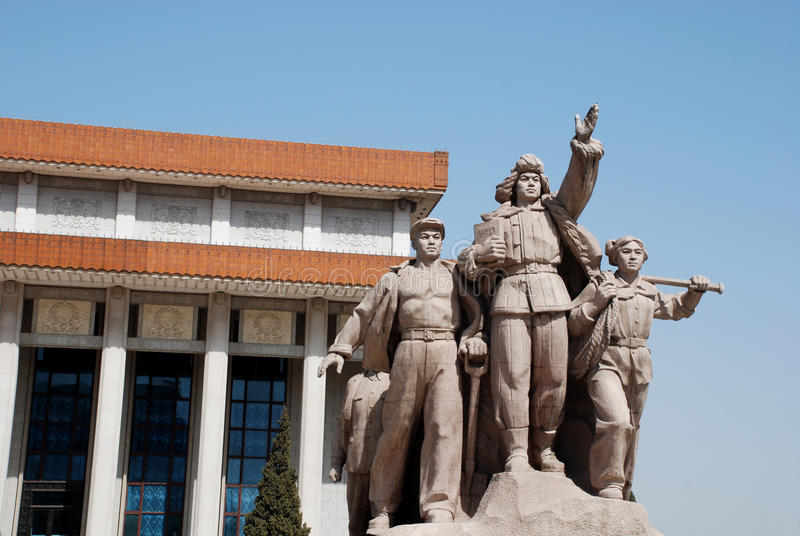 beijing ludzie porcelanowi chińscy pomnikowi Mao fotografia stock