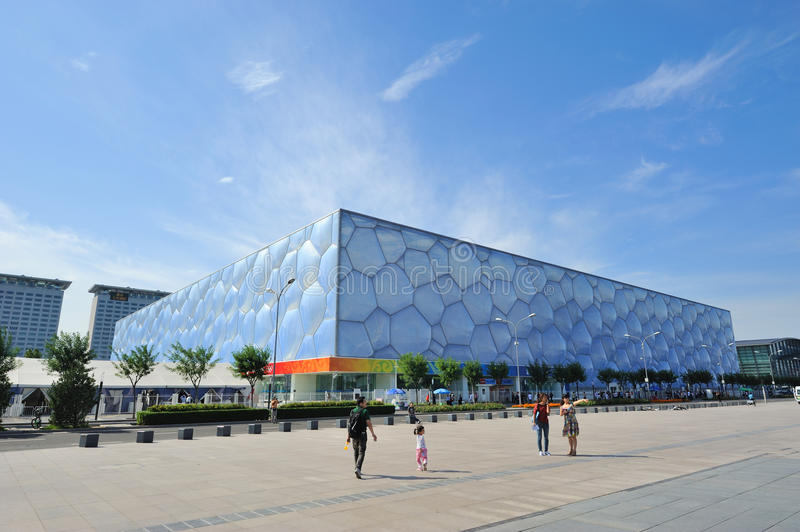 Beijing National Aquatics Center - Water Cube. National Aquatics Center for the Beijing 2008 Olympic Games (also known as the Water Cube royalty free stock images