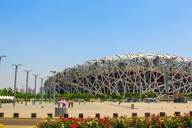 Beijing National Olympic Stadium/Bird s Nest. Beijing Olympic venues construction details royalty free stock photo