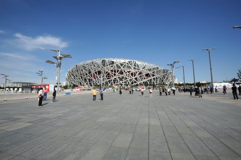 The Beijing National Stadium stock image