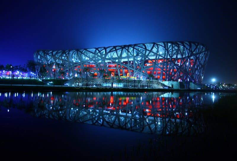 The Beijing National Stadium royalty free stock photography