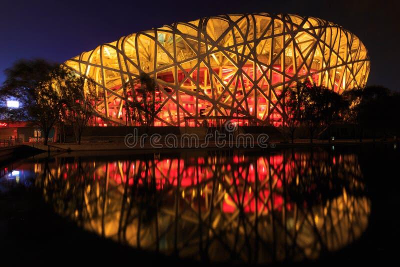 Beijing national stadium, the bird`s nest royalty free stock images