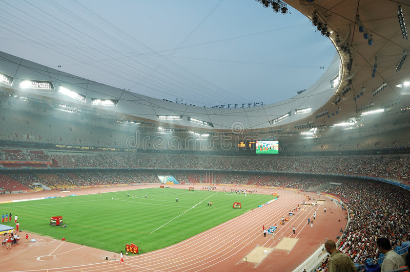 beijing nationalstadion arkivfoton