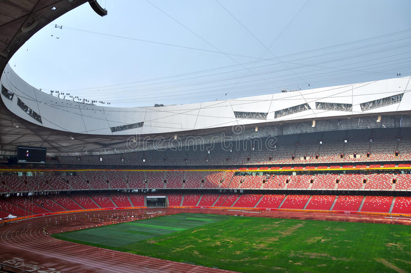 Beijing nationell stadion (fågelboet) royaltyfri bild
