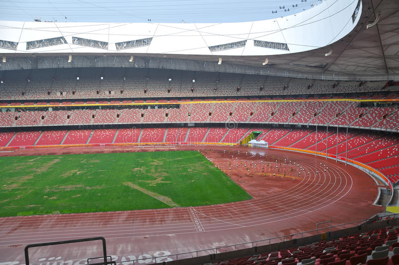 Beijing nationell stadion (fågelboet) royaltyfria foton