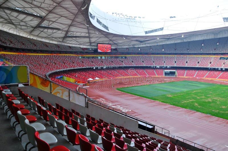 Beijing nationell stadion (fågelboet) arkivbild