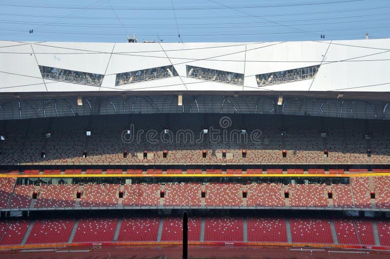 Beijing nationell stadion (fågelboet) royaltyfri fotografi