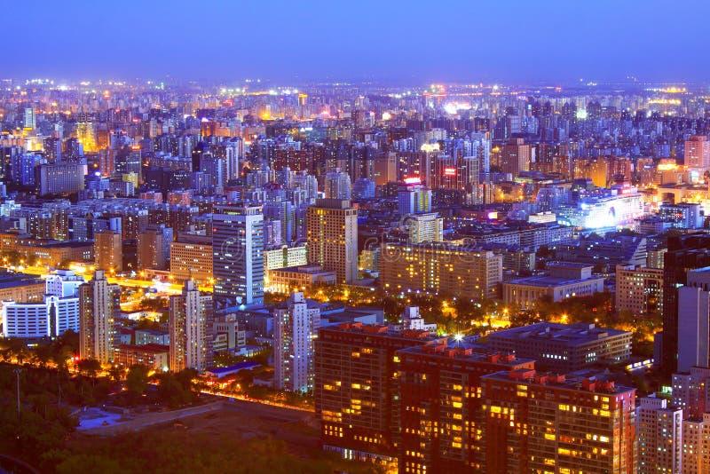 Beijing night scenery royalty free stock photos