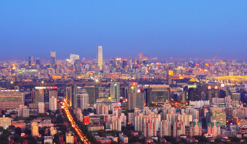Beijing night scenery royalty free stock image