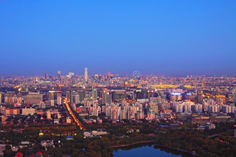 Beijing night scenery stock images
