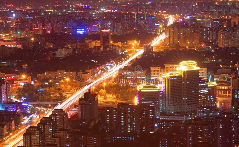 Beijing night scenery stock image
