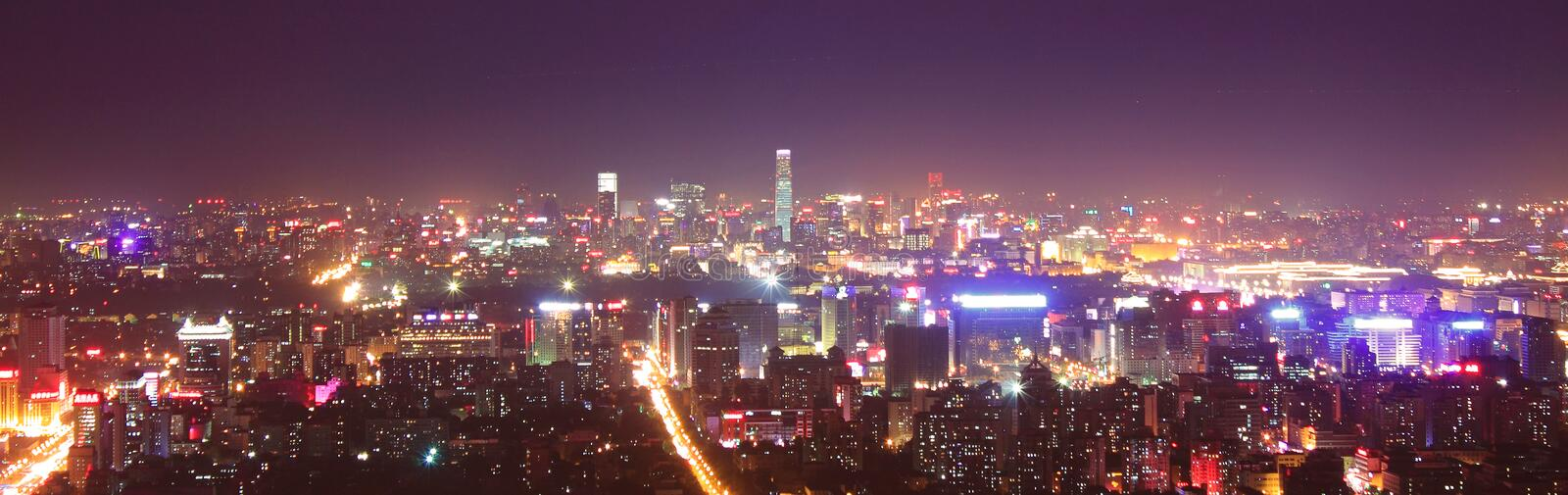 Beijing night scenery royalty free stock photography