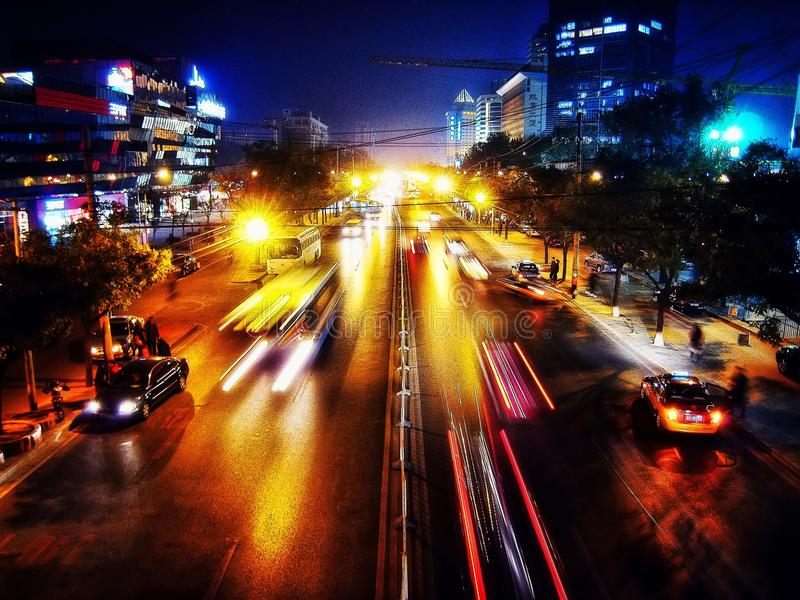 Beijing Night Streets stock image