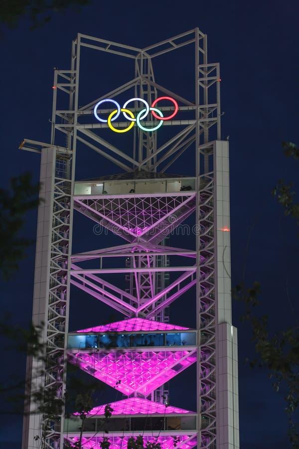 beijing noc olimpijski połysk nieba wierza fotografia royalty free