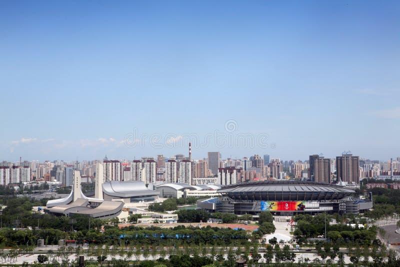 beijing olympic stadioner fotografering för bildbyråer