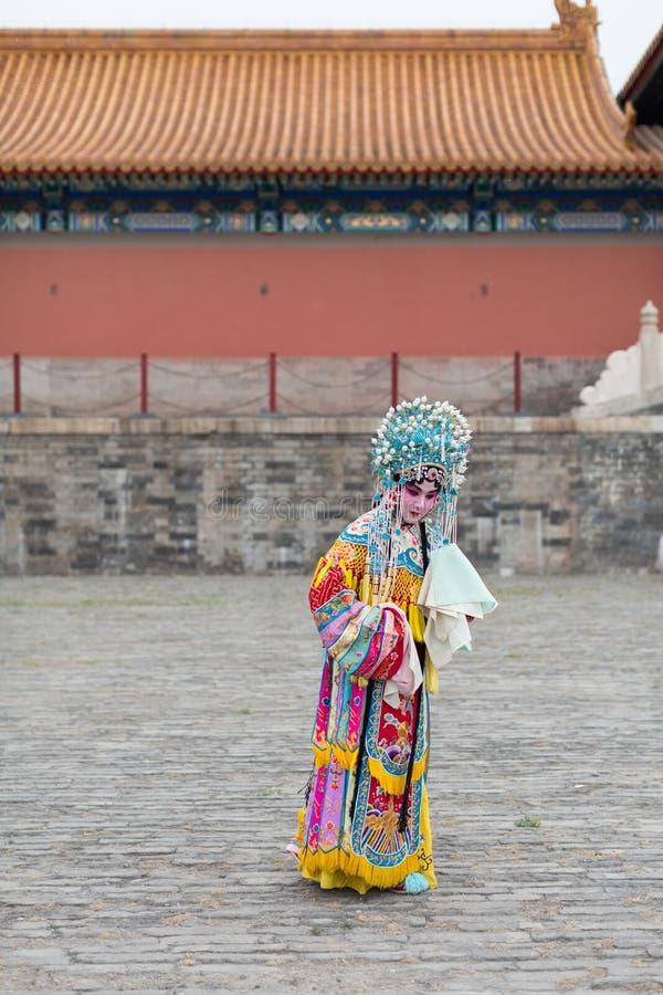 Beijing Opera actress stock image