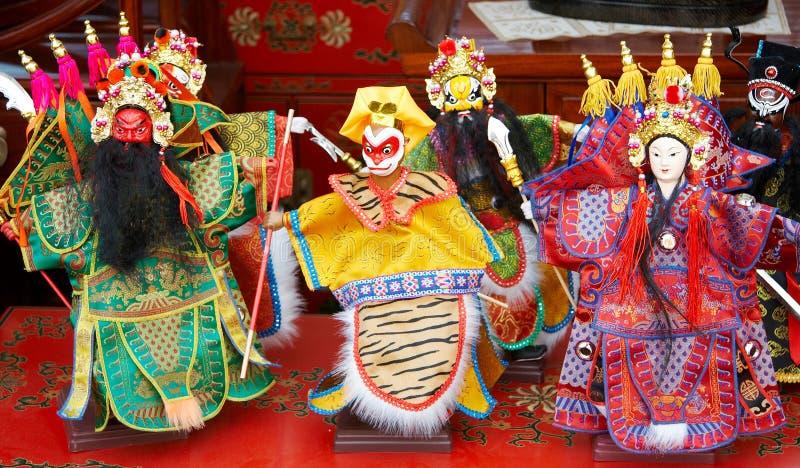 Beijing opera figurine stock images