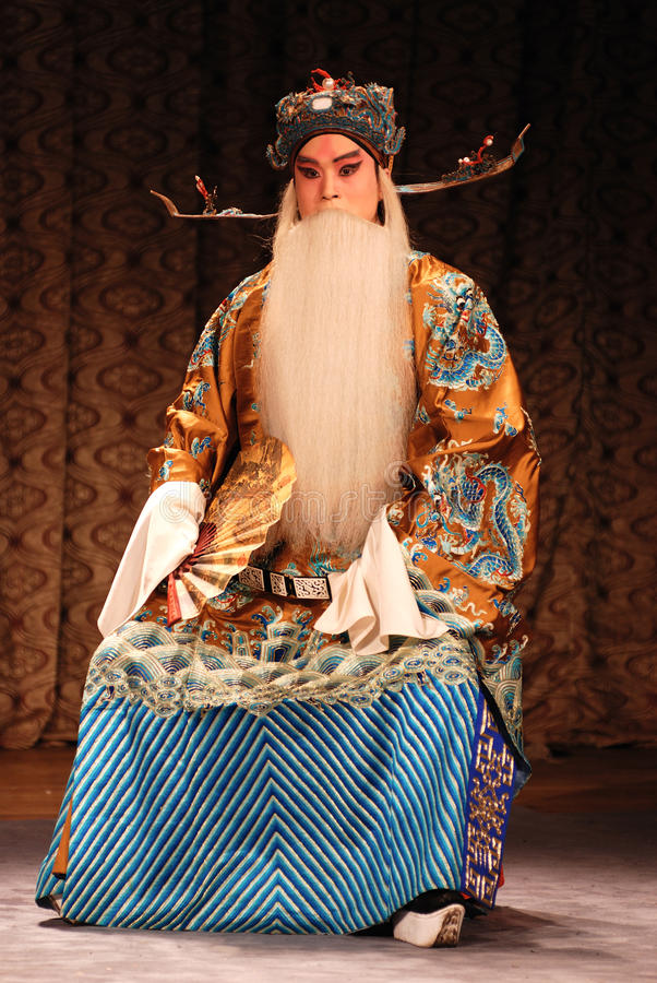 Beijing opera show. A Beijing Opera Show in front of a temple royalty free stock image