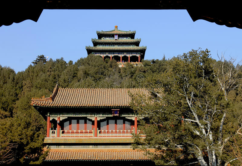 beijing park porcelanowy jingshan obrazy royalty free