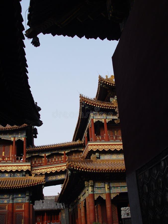 beijing porcelana rooves być obramowane cień. zdjęcie royalty free