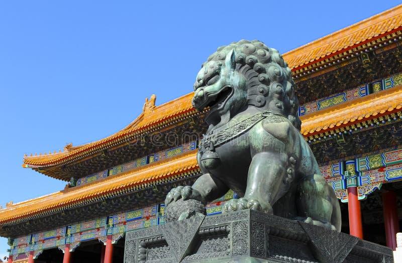 beijing porcelanowy miasto zakazujący muzealny pałac zdjęcia stock